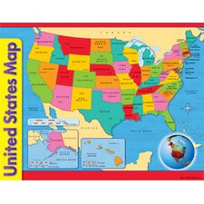 Chart Usa Map 17 X 22 Gr 1-8 (Set of 3)