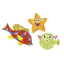 Sea Life Sparklers Sticker (Set of 4)