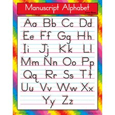 Manuscript Alphabet Chart (Set of 3)