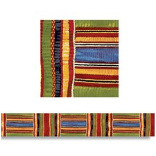 Kente Cloth Straight Edge Classroom Border (Set of 2)