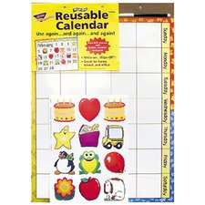 Wipe-off Reusable Calendar Chart (Set of 2)