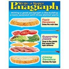 Learning Writing A Paragraph Chart (Set of 3)