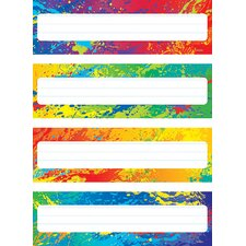 Splashy Colors Name Plates Variety Chart (Set of 2)