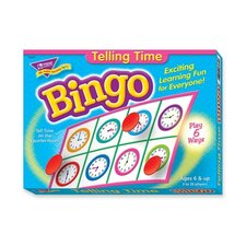 Bingo Telling Time Game, 3-36 Players, 36 Cards/Mats