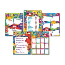 Classroom Basics Furry Friends Learning Charts Combo Pack