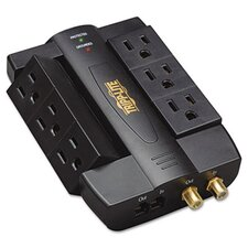 Direct Plug-In Home/Business Theater Surge Suppressor, 6 Outlets