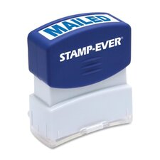 "Stamp, Pre-Inked, ""Mailed"", 9/16""x1-11/16"" Imp, Blue"