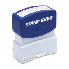 """Stamp, Pre-Inked, """"Posted"""", 9/16""""x1-11/16"""" Imp, Red"""