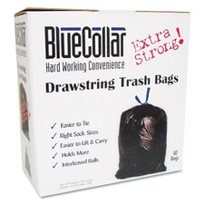 Bluecollar Drawstring Trash Bags, 40/Box