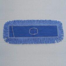 """36"""" x 5"""" Looped-End Dust Mop Head in Blue"""