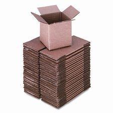 Corrugated Kraft Shipping Carton, 4w x 4l x 4h, Brown, 25 per Pack