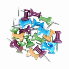 Colored Push Pins, 100/Pack (Set of 6)