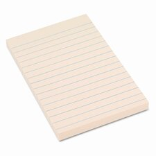 Recycled Sticky Notes, 4 X 6, Lined, Yellow; 12 100-Sheet Pads/Pack