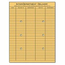 Light Brown Kraft String & Button Interoffice Envelope, 100/Box