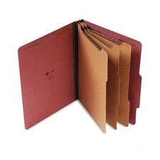 Pressboard Classification Folder, Letter, Eight-Section, 10/Box