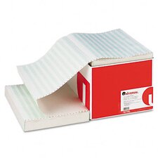 Recycled Green Bar Computer Paper, 14-7/8 x 11, Perforated Margins, 2800 Sheets