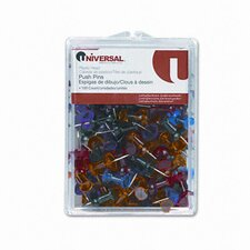 Colored Push Pins, 100/Pack (Set of 5)