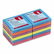 Fan-Folded Pop-Up Notes, 12 100-Sheet Pads/Pack
