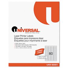 Laser Printer Permanent Labels, 8000/Box