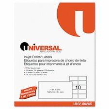 Inkjet Printer Labels, 250/Pack (Set of 2)