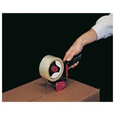 Handheld Box Sealing Tape Dispenser in Black and Red