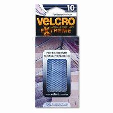 "Extreme Indoor/Outdoor Hook & Loop Fasteners, 1"" x 4"" Strips, 10 per Pack"