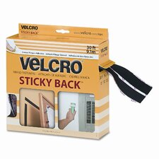 "Sticky-Back Hook and Loop Fasteners In Dispenser, 3/4"" X 30 Ft. Roll"