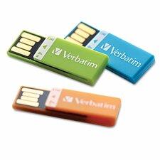 Clip-It Usb Flash Drive, 4G, 3-Pack