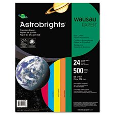 Astrobrights Eco Brights Colored Paper, 24 lbs., 8-1/2 x 11, Assorted, 500/Ream