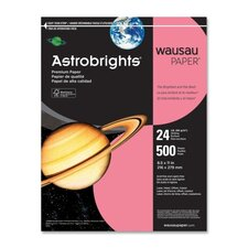"Astrobright Paper, 24Lb, 8-1/2""x11"", 500/RM, Plasma Pink"