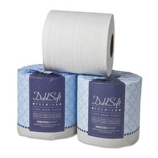 Dublsoft 2-Ply Toilet Paper - 500 Sheets per Roll / 80 Rolls