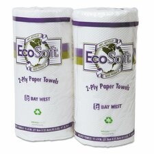 Ecosoft Household 2-Ply Paper Towels - 30 Rolls