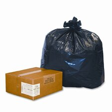 ReClaim Can Liners, 33 gallon, 1.25mil, 33 x 39, Black, 100/carton