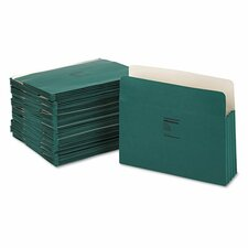 """Colorlife 3 1/2"""" Expansion Pocket, Straight Tab, Letter, 25/Box"""