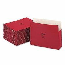 "Colorlife 3 1/2"" Expansion Pocket, Straight Tab, Manila, Letter, 25/Box"
