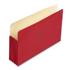 """Colorlife 5 1/4"""" Expansion File Pocket, Straight Tab, Legal, 10/Box"""