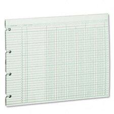 Accounting Sheets, 6 Column, 9-1/4 X 11-7/8, 100 Loose Sheets/Pack