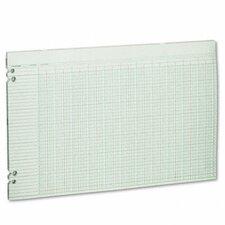 Accounting Sheets, 36 Columns, 11 x 17, 100 Loose Sheets/pack, GN, 2012