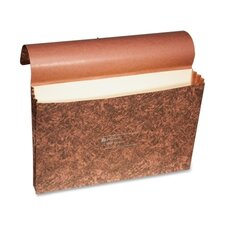 """LeatherLife Expanding Wallet, Elastic Cord, Legal, 3 1/2"""" Exp, Brown"""