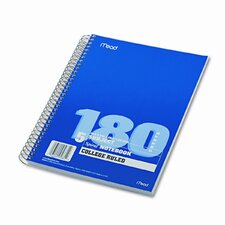 Spiral Bound Notebook, College Rule, 8 x 10-1/2, White (Set of 2)
