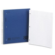 Mid Tier Single Subject Notebook, College Rule, Letter, 80 Sheets/Pad (Set of 3)