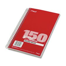Spiral Bound Notebook, College Rule, 6 X 9-1/2, 3 Subject 150 Sheets/Pad (Set of 2)