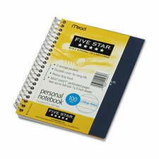 Five Star Wirebound Notebook, College Rule, 5 X 7, Perforated, Poly Cover, 100 Sheets (Set of 2)