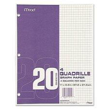 Quadrille Graph Paper, Quadrille, 8 1/2 X 11, 12 Pads/Pack