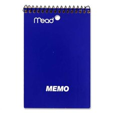 "Memo Book, College Ruled, 4""x6"", 40 Sheets, Assorted (Set of 6)"
