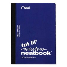 "Neatbook, College Ruled, 200 Sheets, 5-1/2""x4"", Assorted (Set of 3)"