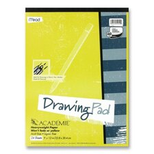 "Drawing Pad, Heavy Weight, 9""x12"", 24 Sheets White (Set of 2)"