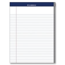 "Legal Pad, College Rule, 70 Sheets, 8-1/2""x11"", White, 3 Hole Punched (Set of 2)"
