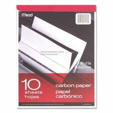 """Carbon Paper Tablet, 8-1/2""""x11"""", Black Carbon (Set of 3)"""