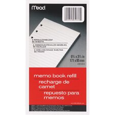 """80 Count 3-3/4"""" x 6-3/4"""" Memo Book Refill"""